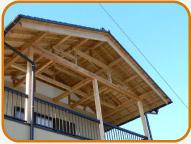 オリジナルの無垢の木の屋根
