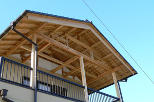 あきる野市 大きなバルコニーの家